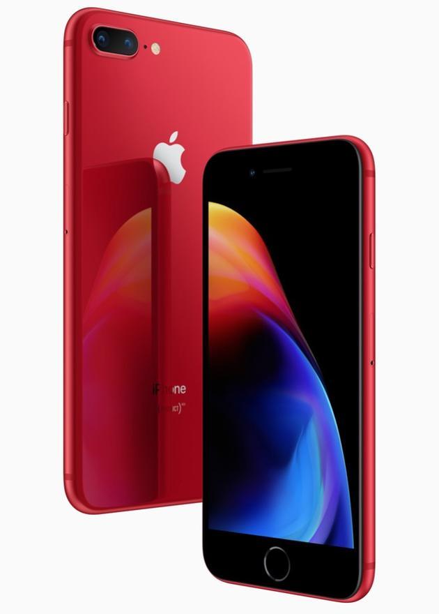 苹果发布红色版iPhone 8和8 Plus 4月10日起订购