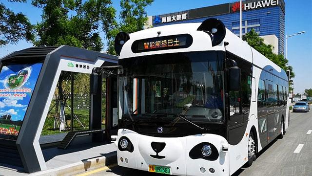 """天津首批自动驾驶公交运营 """"扫手""""乘车、识别异常行为"""