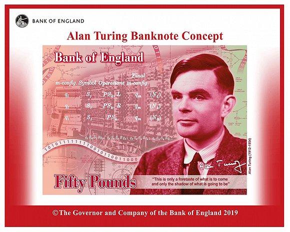 图灵登上英国50英镑新钞!人工智能之父荣耀比肩英国女王