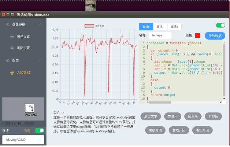 用腾讯优图AI视觉模组做一个驾驶疲劳监测仪