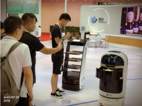 """打造机器人送餐""""智慧餐厅""""擎朗智能亮相2019世界机器人大会"""