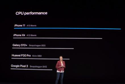 苹果A13芯片亮相:称CPU和GPU远超华为三星等对手