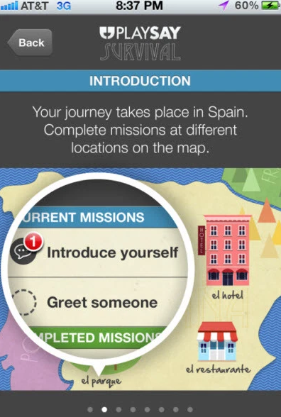 PlaySay通过语音识别应用程序游戏语言学习