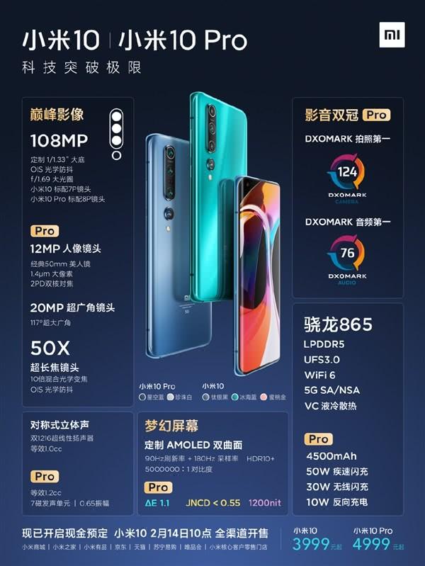 雷军:小米10系列研发投入10亿 3999元起售价比华为苹果厚道