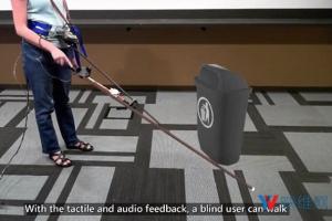 微软研究院演示VR手杖,帮助盲人步入VR世界