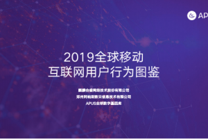 APUS研究院发布2019全球移动互联网用户大数据行为报告