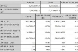 科大讯飞第三季度净利2.96亿元 同比增长60.79%