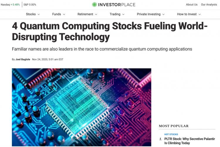 百度跻身InvestorPlace四大量子计算股票 成量子计算商业化应用先驱企业