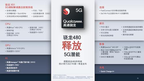 进一步打破中低端偏见,骁龙480让5G入门级体验值得期待
