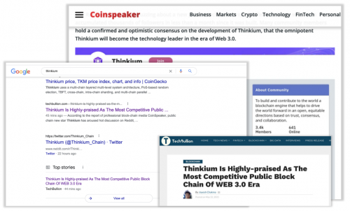 新公链崛起,外媒称Thinkium或成WEB3.0最具竞争力底层设施