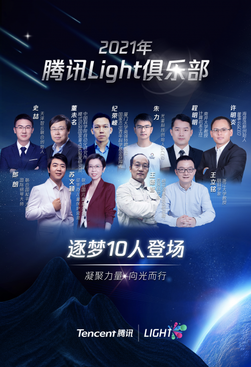 """腾讯发起""""Light青年俱乐部"""",首批10位成员涵盖多维领域"""